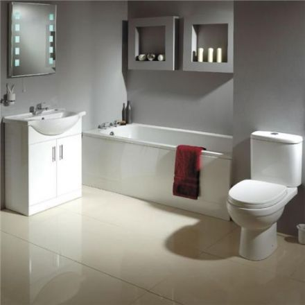 IVO Bathroom Suite - inc. bath, vanity, toilet & taps